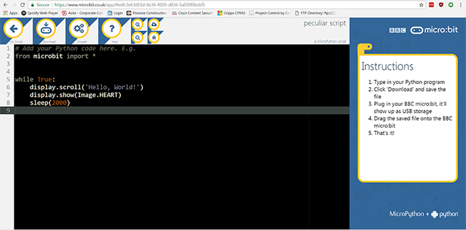 BBC Micro:bit Python IDE